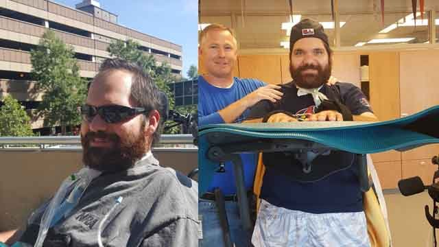 Officer Mike Flamion continues to make progress in his recovery. (Credit: KMOV).