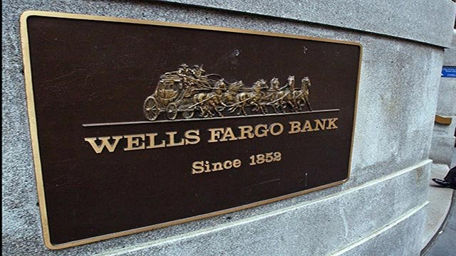 Wells Fargo Bank sign, Palo Alto, California, photo (Credit: AP Images)