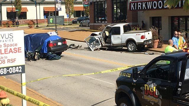 South Kirkwood Road was closed due to a fatal crash (Credit: KMOV)