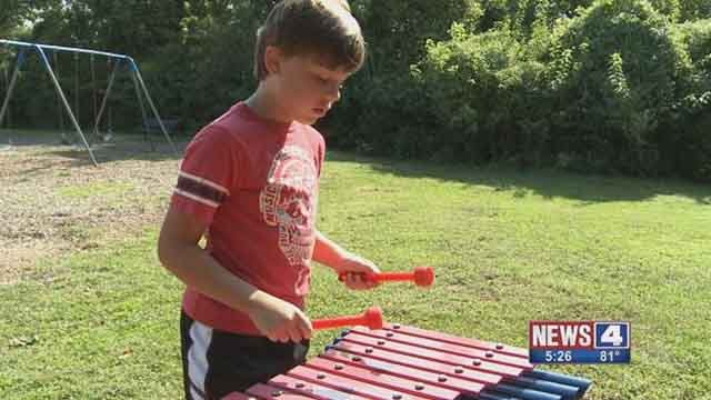 Barretts Elementary has added instruments to their playground. (Credit: KMOV).