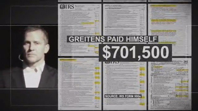 Chris Koster's latest advertisement accuses Eric Greitens of taking money from his Mission Continues charity campaign to pay himself (Credit: KMOV).