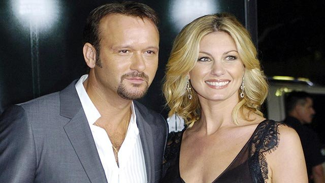 Tim McGraw and Faith Hill, husband and wife (Credit: AP Images)
