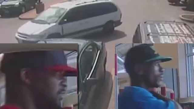 Two suspects are wanted in connection to the theft of an elderly woman's purse at Walgreens. (Credit: KMOV).