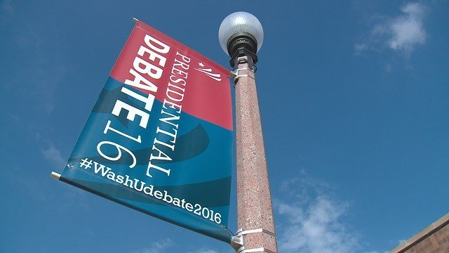 A lot of people are wondering if they can see the Presidential debate in person at Washington University (Credit: KMOV).