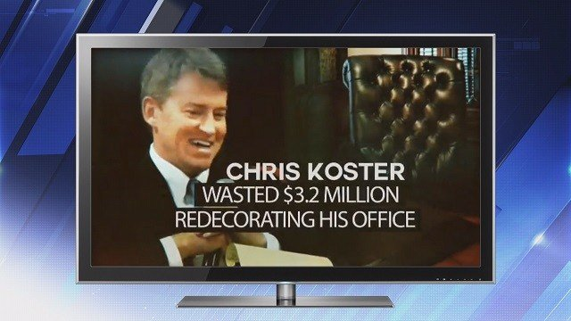 Greitens latest advertisement attacks Koster for being a career politician (Credit: KMOV).