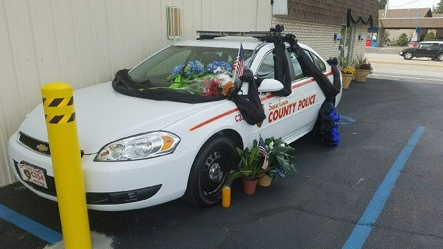 St. Louis County Police Officer Blake Snyder's memorial (Credit: KMOV).