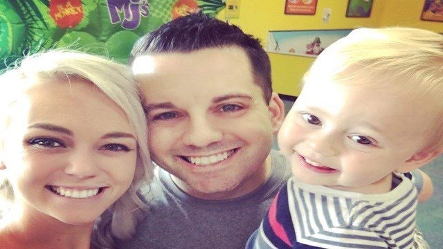 Officer Snyder, killed on Thursday, seen in a new family photograph (KMOV)