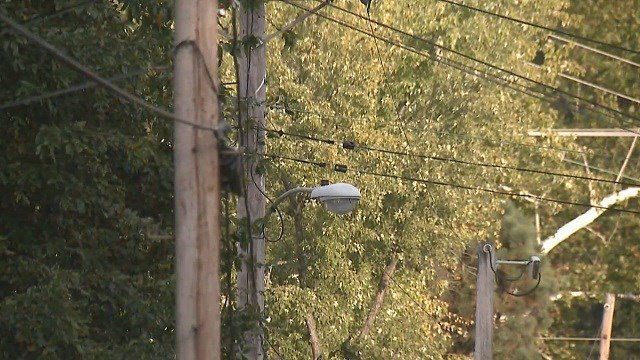 Residents in unincorporated North County are in the dark after their street lights were turned off for failure to pay a bill (Credit: KMOV).