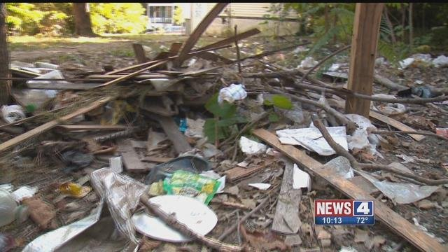 An alley in Ward 28 in St. Louis City looks like a disaster area because of illegal dumping. Credit: KMOV