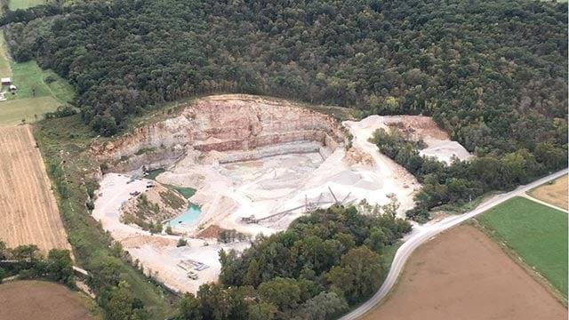 Aerial view of Schiermeier Quarry (Credit: Joe Belsher)