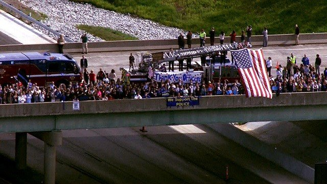 Support along the procession route (KMOV)