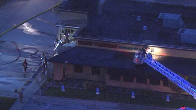 Firefighters are Ruby Tuesday in Fairview Heights Friday (Credit: KMOV)