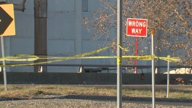 The area where a man's body was found in Washington Park Monday (Credit: KMOV)