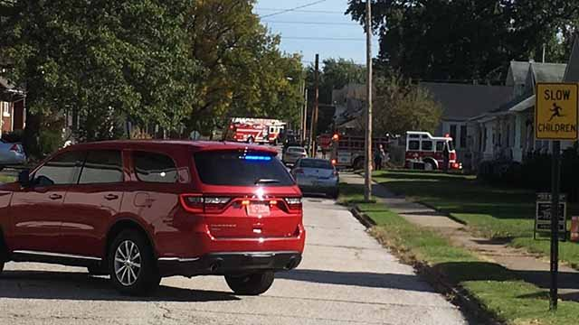 A gas leak has shut down MetroLink trains in Belleville and prompted the evacuation of a nearby apartment building. Credit: Belleville Fire Department