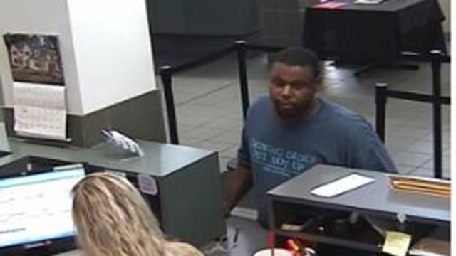 Surveillance photo of bank robbery suspect (Credit: St. Louis Police Department)