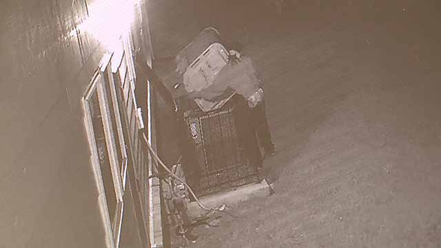 Thieves stole 2 AC units from the Health and Opportunity Center in Washington Park. Credit: Health and Opportunity Center surveillance camera