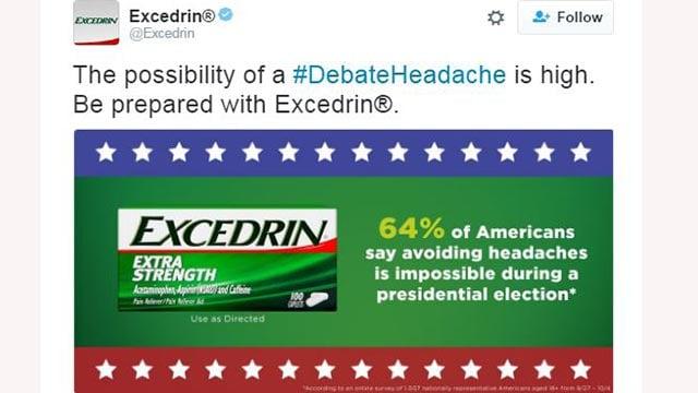Excedrin's tweet Wednesday morning (Credit: Excedrin / Twitter)