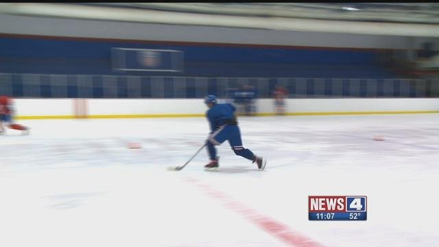 The St. Louis Jr Blues practicing. Credit: KMOV