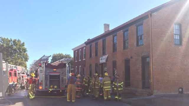 A fire caused major damage to the inside of Hopskeller Brewery. (Credit: KMOV).