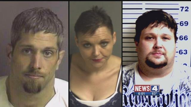 John Townsend, Jessica Franklin, and Jesse Chitwood  are accused of taking the personal information of customers at a car dealership to open up credit cards to buy meth. Credit: Franklin County Sheriff's Office