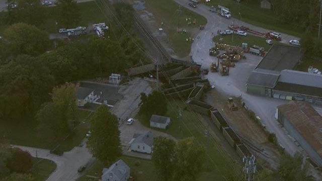 A train derailed in Belleville (Credit: KMOV)