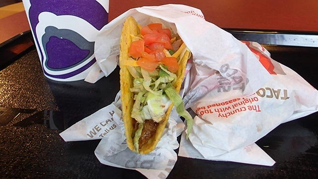 Taco from Taco Bell (Credit: AP Photo / John Raoux)