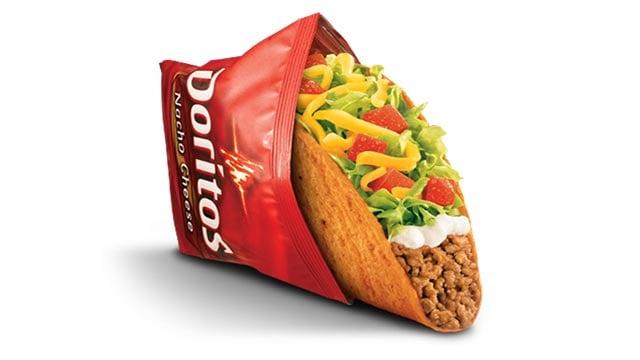 """Taco Bell """"Nacho Cheese Doritos"""" Taco Supreme (Credit: Taco Bell / AP Images)"""