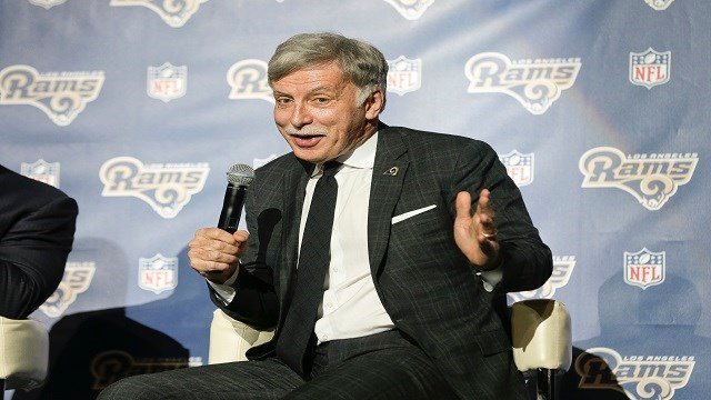 St. Louis Rams owner Stan Kroenke takes questions from the media at a news conference at The Forum in Inglewood, Calif. (AP Photo/Nick Ut, File)
