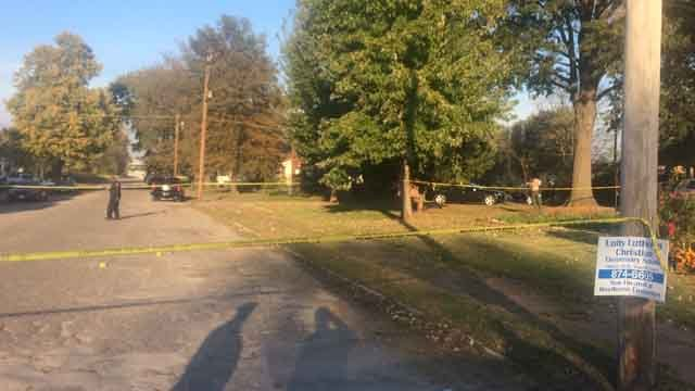 Police are investigating a double shooting in East St. Louis. (Credit: KMOV.)