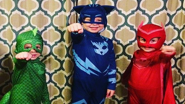 Stephanie Hadfield's children dressed up (Credit: Stephanie Hadfield / News 4 viewer)