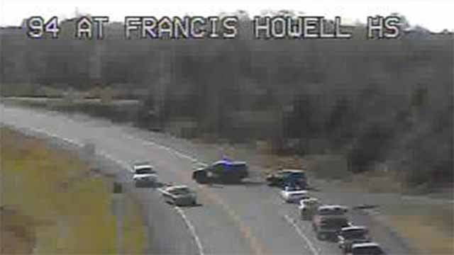 A wreck on SB Highway 94 near Francis Howell High School. The highway is closed. Credit: MoDOT