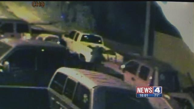 Two thieves were caught on camera stealing a to truck from Cole's Recovery in Alton. Credit: KMOV