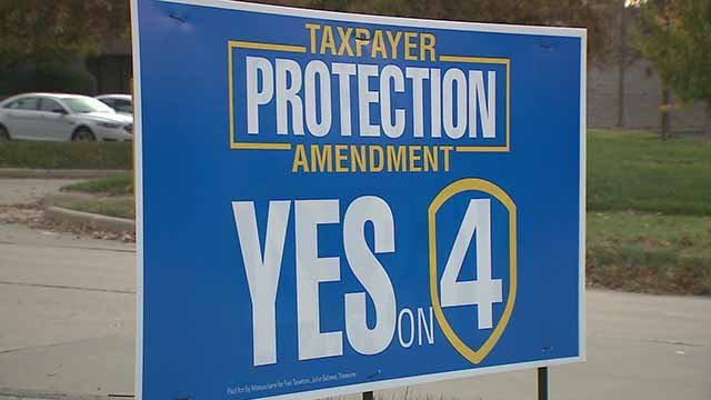 Approval of Amendment 4 would prevent a sales tax from going into effect on many purchases and services in Missouri. Credit: KMOV