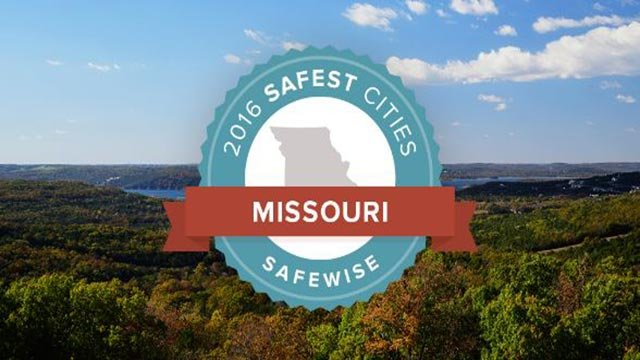 Logo for the '2016 Safest Cities in Missouri' (Credit: SafeWise)