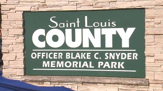 Clydesdale Park in South County has been renamed after Officer Blake Snyder. Credit: KMOV