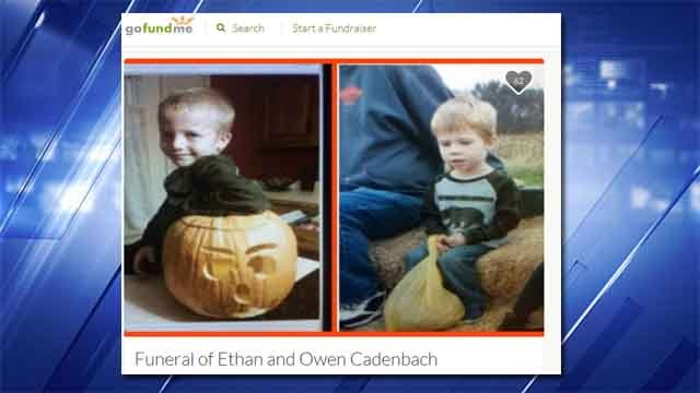 A GoFundMe account has been setup for Ethan and Owen Cadenbach. (Credit: KMOV).