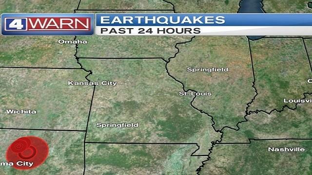 A magnitude 5.3 earthquake was reported near Weston, Oklahoma at 7:44 p.m. Sunday (KMOV)