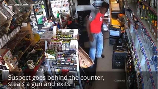 The Elite Liquor burglary suspect (Credit: St. Louis County Police Department)