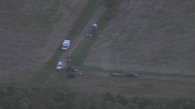 Crews are searching for a woman and child in woods near Marissa, Illinois. Credit: KMOV