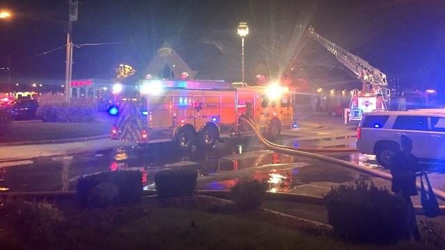 Emergency crews on scene at a fire at a Eureka Denny's. (Credit: Kelly Davis, KMOV)