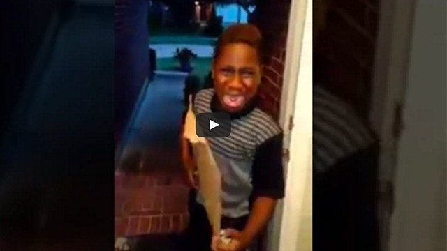 "Young boy cries as his mother ""kicks him out of the house."""