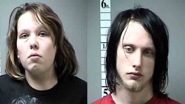 (Credit: KMOV). Megan Hendricks (left) and Robert Burnette (right) have been arrested and charged for allegedly abusing their 6-month-old son.