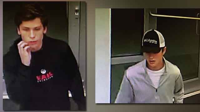 The Chesterfield PD is asking for the public's help identifying these two men suspected of theft. (Credit: KMOV).