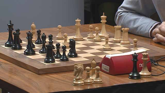 Chess being played. Credit: KMOV