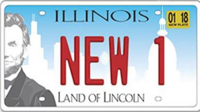 New license plates in Illinois (Credit: Jesse White / Secretary of State)