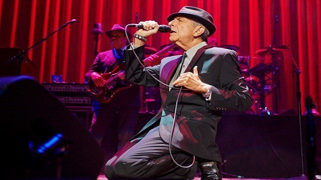 Leonard Cohen performing. (Credit: Gary Wolstenholme)