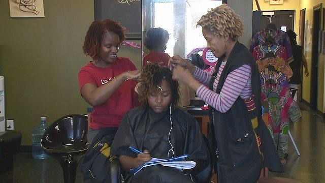 Two St. Louis hair braiders are fighting back against Missouri's licensing requirements. (Credit: KMOV)