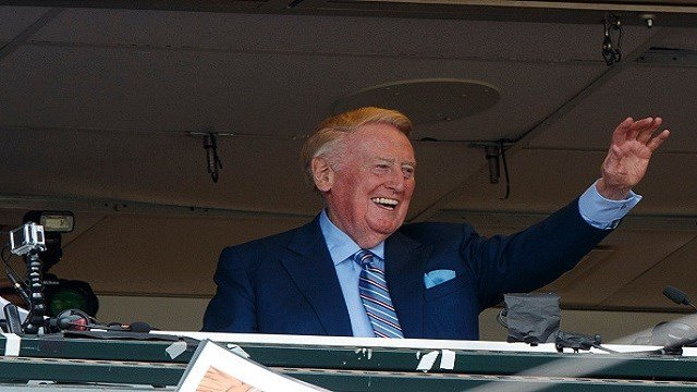 Vin Scully to be awarded the Presidential Medal of Freedom. (Credit: Jason O. Watson)