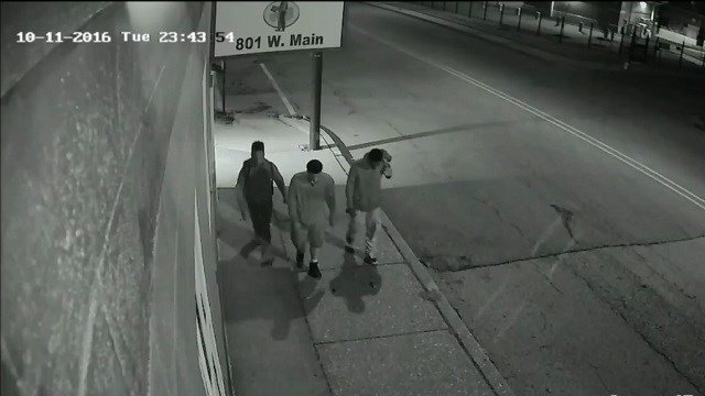 Belleville Police are asking for the public's help in identifying these three men. (Credit: Belleville Police Department)
