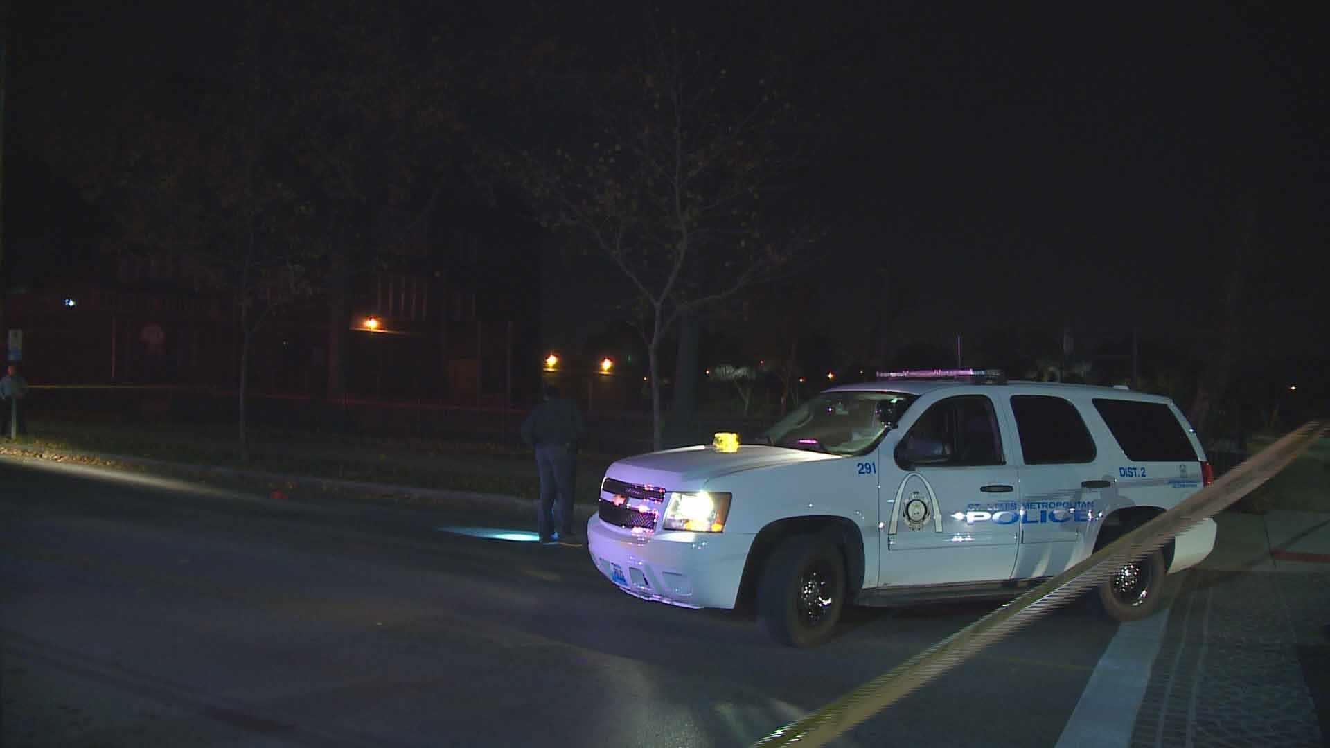 Two people were shot near the intersection of Thurmon and Shaw Thursday night. Credit: KMOV